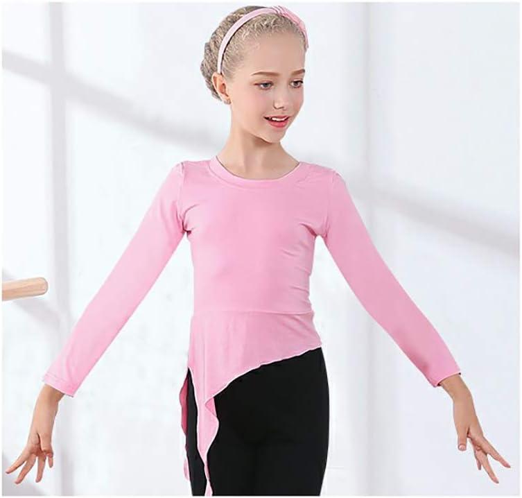 Cheng Peng Ropa de Baile Ropa de Baile para niños Camisa de Manga Larga Ropa de práctica de Baile Trajes de Entrenamiento de Baile Latino para niños con Modelos, adecuados para Alturas