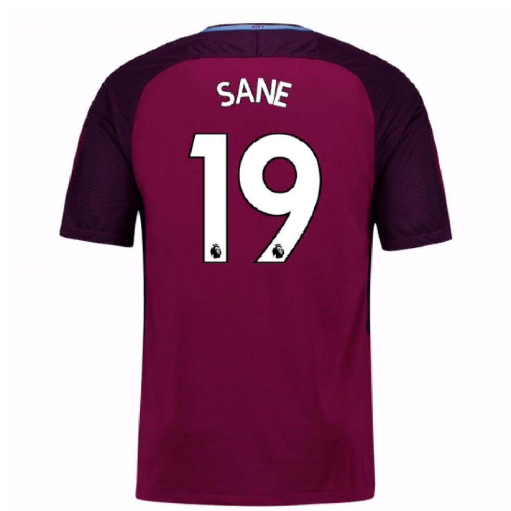 2017-18 Man City Away Football Soccer T-Shirt Trikot (Leroy Sane 19) - Kids