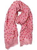Funky Junque's Embossed Lips & Kisses Scarf – Valentine's and Mother's Day