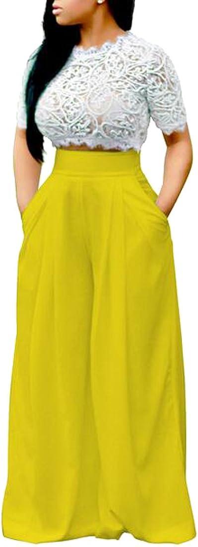 ARTFFEL Womens Short Sleeve Solid Cold Shoulder One-Piece Elastic Waist Jumpsuit Romper