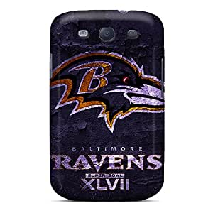 Tpu Shockproof/dirt-proof Super Bowl 2013 Baltimore Ravens Cover Case For Galaxy(s3)
