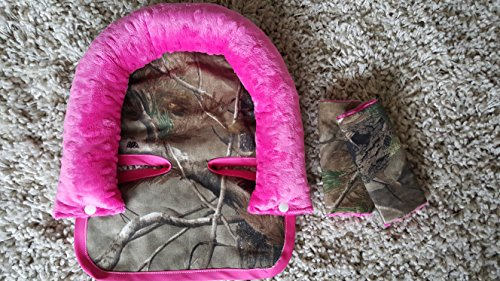 pink camo car seat strap covers - 5