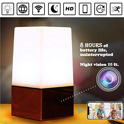 Spy Wireless Camera- Colorful Night lamp Hidden WiFi Camera Record Live HD Footage in 1080P Includes 32GB Storage Card & 8 Meters Night Vision Motion Sensing Home Security Camera Lamp by V-AIDMENG