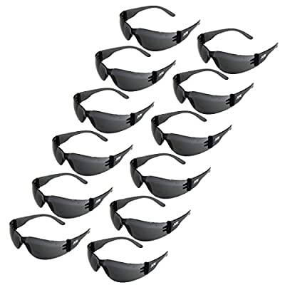 JORESTECH Eyewear - Safety Protective Glasses Pack of 12 (Smoke)