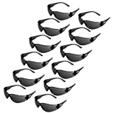 JORESTECH Eyewear – Safety Protective Glasses Pack of 12 (Smoke)