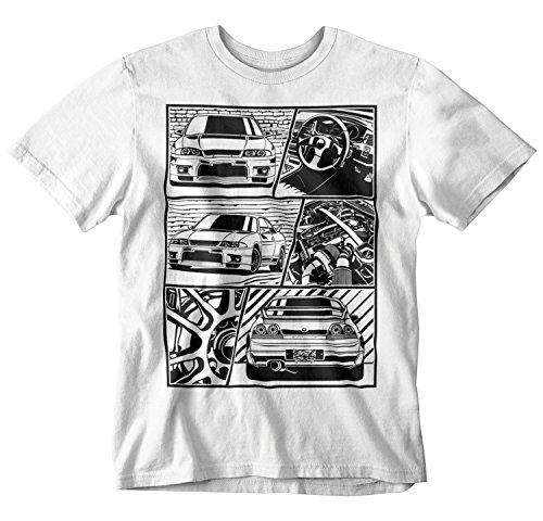 Used, STYLN GTR R33 Fragment T-Shirt (XX-Large) White for sale  Delivered anywhere in USA