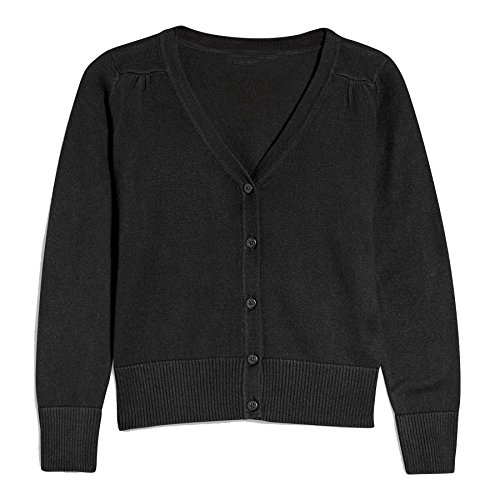 Hollywood Star Fashion Khanomak Kids Girls V Neck Cardigan Sweater (Size 7/8, Black) by Hollywood Star Fashion