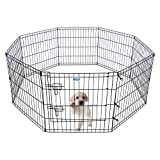 HACHI SHOP Pet Playpen Foldable Exercise Pen for Dogs Cats Rabbits - 24 inches (24')