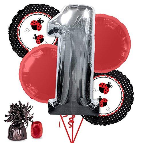 Costume Supercenter BB102181 Ladybug 1st Birthday Balloon Kit]()