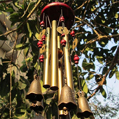 Chinese Traditional Wind Chimes Antique Amazing Tubes Bells 4 Tubes Copper Windchime Home Wall Hanging Decor Grace Tuned Wind Chimes Ornaments Lovely Outdoor Living Yard Garden Decorations