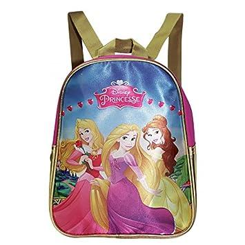 Princesas Disney-Mochila con diseño de Princesa Disney, con tapa, diseño de Bella y Aurora: Amazon.es: Juguetes y juegos