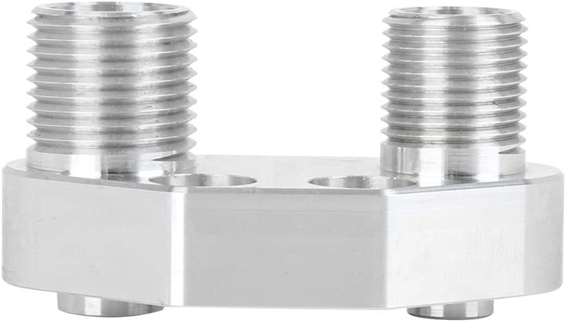 X AUTOHAUX AC Compressor Adapter Fitting for Sanden SD7B10 7176 Aluminum Alloy