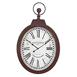 Deco 79 Metal Wall Clock, 34 by 21