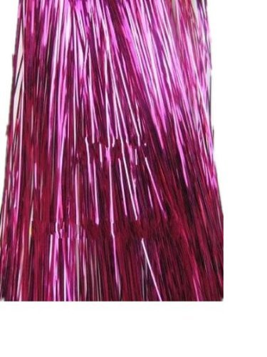Tanya Hair Tinsel 300strands - 28'' Shining Purple- Silk Fibre Bling Bling Salon Hair Extension DIY