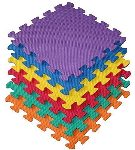 9 Piece Interlocking EVA Foam Activity Play Kids Baby Soft Mat Tiles Set