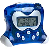 Oregon Scientific RM313PNA Self-Setting Projection Alarm Clock with Indoor Thermometer, Blue