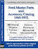 FORD MASTER PARTS & ACESSORY MANUAL CD - Base, Mach 1, GT, GT Deluxe, Deluxe Coupe, Boss, Cobra, Shelby, Sprint, Pro Touring, Pony, C-Code J-Code K-Code Convertible Hardtop Fastback, Coupe 1965 1966 1967 1968 1969 1970 1971 1972