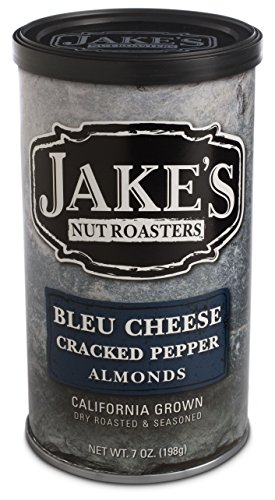 Jake's Nut Roasters Bleu Cheese Cracked Pepper Almonds Pack of 1 - Specialty Nuts