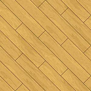 """Seamless Parquet Wooden Flooring Background Oak Planks - 24""""H x 24""""W - Peel and Stick Wall Decal by Wallmonkeys"""