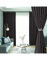2 Pieces Full Blackout Curtains Darkening Thermal Insulated Safty Enviromental Protection Curtains for Bedroom Set of 2 PCS(Blue 135x200cm Top is Eyelets)