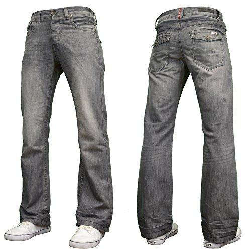 """APT Mens Designer Branded Basics Regular Fit Bootcut Jeans, 28""""-48"""""""