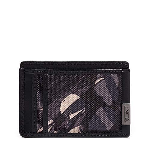 Tumi Men's Alpha - Money Clip Card Case Grey Highlands Print One Size