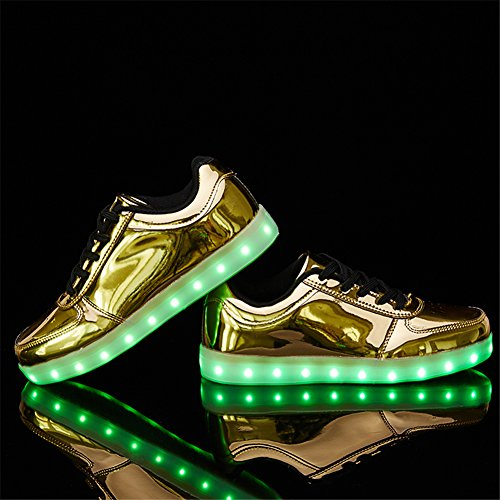 Up Charging Gold LED Light Dancing Shoes Sports Sanyes USB Sneakers Shoes 5tq6gg