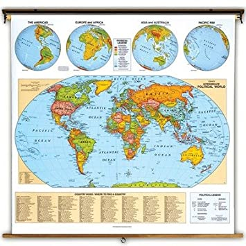 Cram globes 7930 6508 world political roller map amazon office cram globes 7930 6508 world political roller map gumiabroncs Image collections