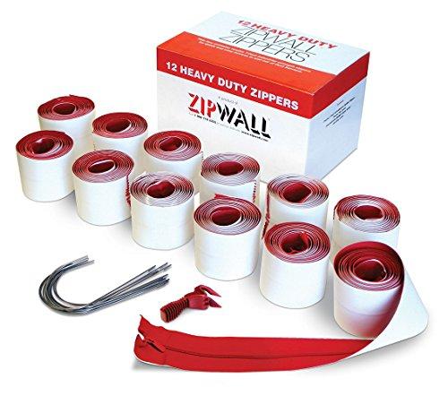 ZipWall 96-Pack Heavy-Duty Zipper for Dust Barriers, Bulk Pack, HDAZ12-PK8 ()