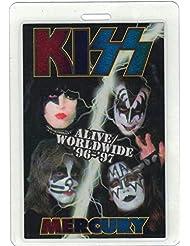 "Kiss Metallic Laminate Backstage Pass Alive Worldwide Tour '96-'97""Mercury VIP"""