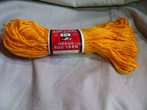 Two Pack Sunset (Light Orange) Aunt Lydia's Heavy Rug Yarn - 70 Yards - 140 Yards Total