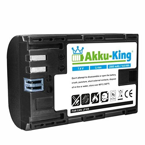 Akku-King Akku (20111944) Li-Ion 2000mAh für Canon EOS 6D