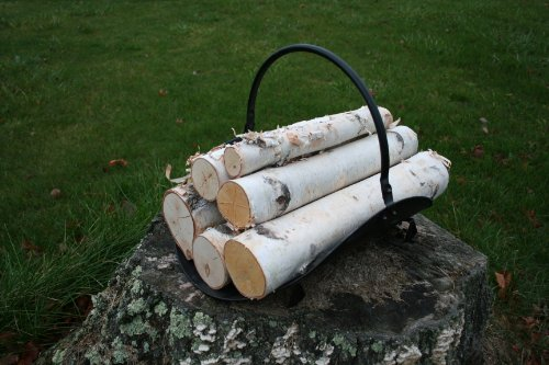 Faux Log (White Birch Log Set for Fireplace)