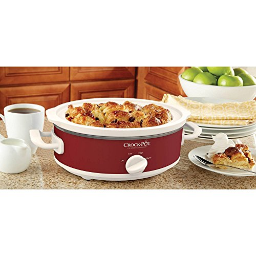 Crock-Pot Casserole Crock Mini Oval Slow Cooker, 2.5-Quart, Red