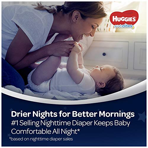 51K2dRCbhlL - HUGGIES OverNites Diapers, Size 6, 48 ct., Overnight Diapers (Packaging May Vary)