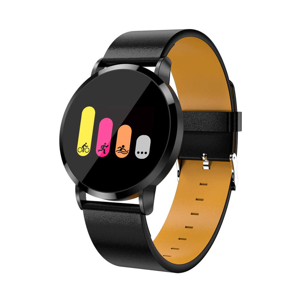 2018 F1 pro Smart Watch, Fitness Tracker 0.95 inch Color display with Heart Rate Blood Pressure Sleep Monitor Pedometer Calorie Tracker Remote Control Camera Sport watch for Android/iOS (Black)