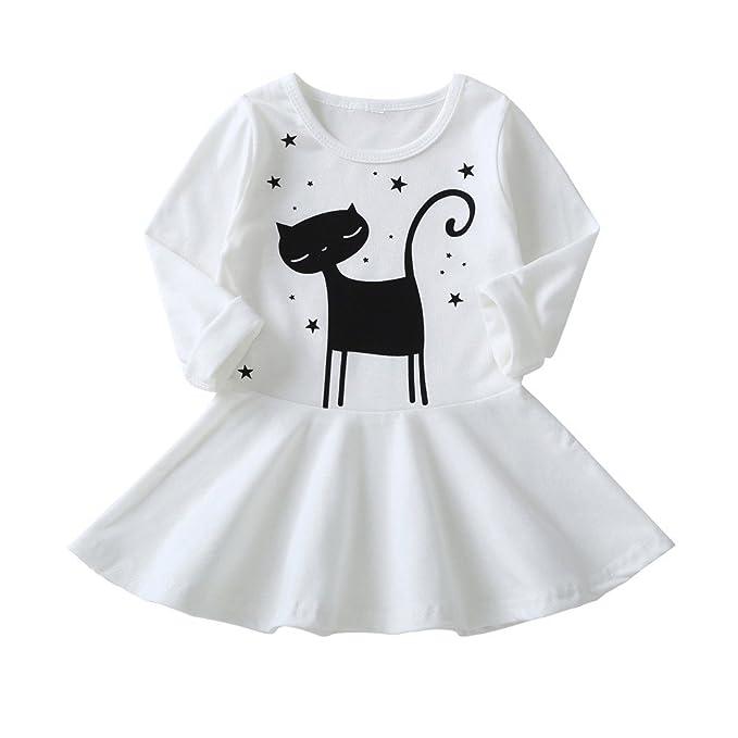 Vestidos Bebé niña, ❤ Modaworld Vestido Infantil de bebé y Manga Larga para bebés Ropa Vestidos Casuales Vestidos de Fiesta Bebé Primavera otoño: ...