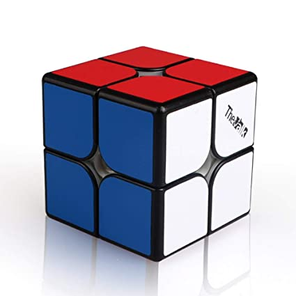 Alician Qiyi Valk2M Speed Magic Cube 2X2X2 Magnetic Puzzle Professional Match Cube Magnetic Force (Black)
