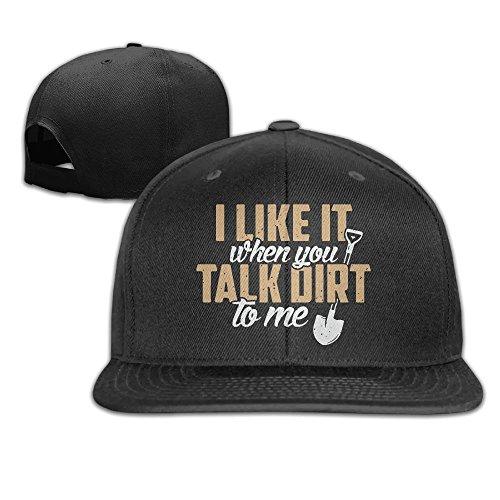 Yishuo Men Gardening Lovers Shirt - Talk Dirt To Me Classic Football Black Caps Hats Adjustable Snapback