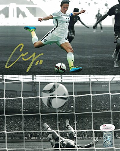 df744b338 Carli Lloyd Autographed USA Womens Soccer 8x10 Photo (World Cup Goal) JSA  at Amazon s Sports Collectibles Store