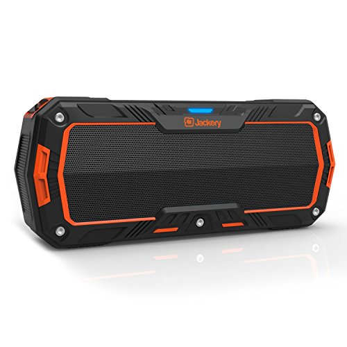 Jackery Boom - Wireless Bluetooth 4.1 Speaker 10W Subwoofers IP65 Water Resistant Dustproof Rugged Portable Bluetooth Speaker for Biking, Hiking, Camping, Beach, Poolside Party Outdoor Activities