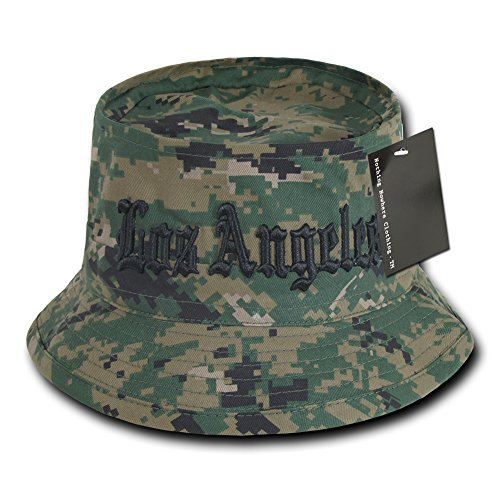 Nothing Nowhere Los Angeles Marine Dig Fisherman Hat, Camouflage, Large/X-Large