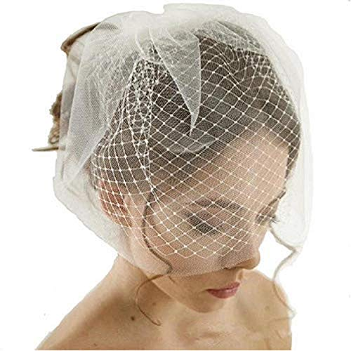 (Double Layer Birdcage Wedding Veil Short Tulle Wedding Birdcage Veils Face Covers With)