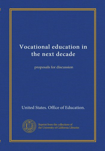 Vocational education in the next decade: proposals for discussion