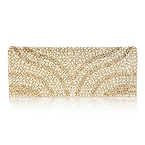 Bag Clutch Dazzling Damara Flap Patterned Pearl Gold Over Womens Evening YwZ6q8
