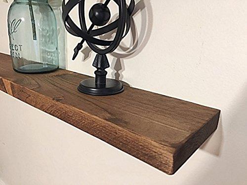 Rustic Floating Shelf, Reclaimed Wood Shelf, Salvaged Wood Floating Shelf, Rustic Wooden Mantle Beam ()