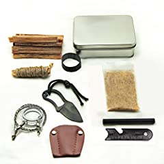Ships from USA. American owed & operated. The perfect gift for anyone interested in survival, bushcraft, camping, hiking, fishing and other outdoor activities. Ships from USA 100% Satisfaction Guaranteed. Fire starting survival tin contai...
