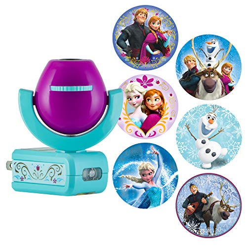Disney Night Princess Light - Disney Projectables Frozen LED Plug-in Night Light, Six-Image, 25282, Six Different Images Project onto Wall or Ceiling