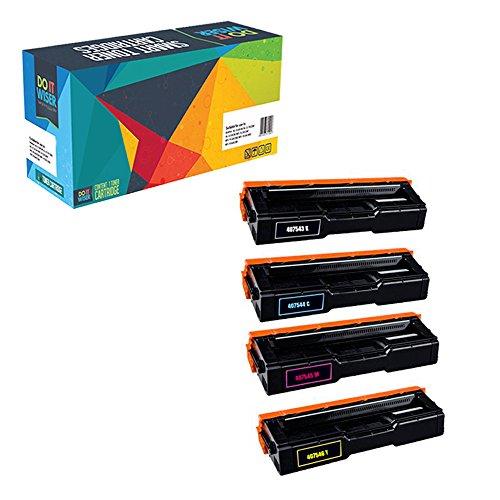 le Toner for Ricoh SP C250DN SP C250SF - 407539 407540 407541 407542 - Black 2,000, Colors 1,600 Pages - 4 Pack ()