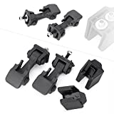 Timmart Lower Hood Latches & Upper Hood Catch Brackets For 1997-2006 Jeep Wrangler Tj
